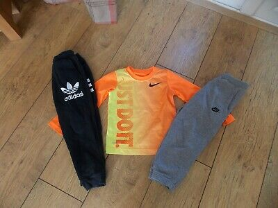 Boys Nike Adidas Tracksuit Joggers Top Age 3-4 Years