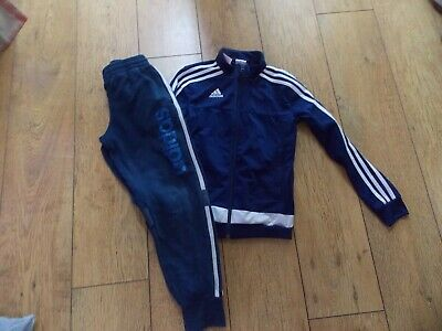 Boys Adidas Tracksuit Top Joggers Age 9-10 Years