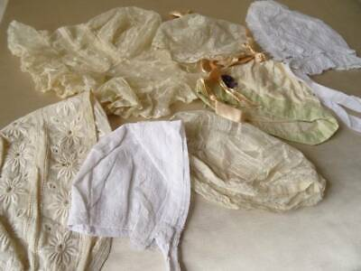 A Beautiful Collection Of 7 Antique Bonnets Edwardian & Victorian