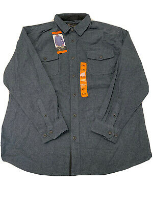Grizzly Mountain Camois Flannel mens Shirt GRAY XX-Large NEW with tags    2XL