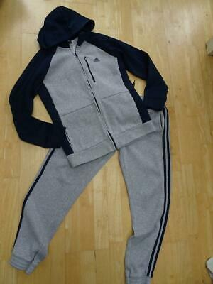 ADIDAS boys 2 piece tracksuit set trousers jumper AGE 13 - 14 YEARS AUTHENTIC