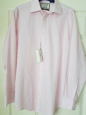 BNWT Size 15.5 Slim Fit Thomas Pink Ted Check Shirt RRP £130
