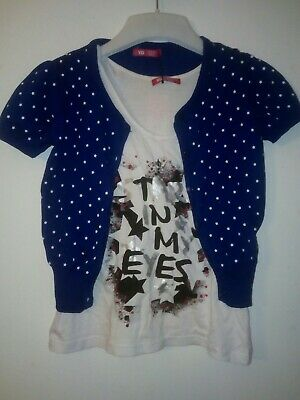 Bnwt Primark Young Dimension Girls 2 Piece Set Cardigan & Vest Top 9-10 years