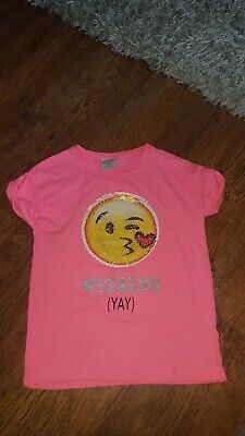 Primark girls emoji t.shirt  age 9-10 years