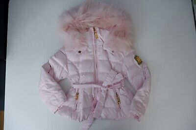 Canzitex Girls Padded Coat, Size Age 3 Years, Pink, Fur Trim Hood