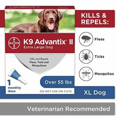 K9 Advantix II Flea,Tick and Mosquito Prevention X-Large Dogs Over 55 lbs