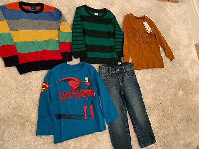 New Unworn Mostly Gap Toddler Boys Bundle Age 2-3 Age 3 Years Tops Jumpers Jeans