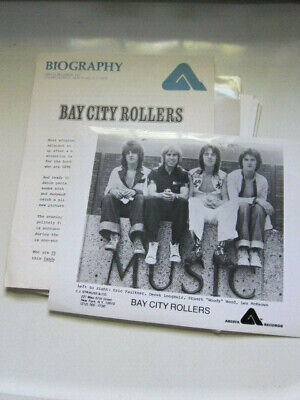 BAY CITY ROLLERS  Press kit with 8x10 photo