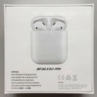 Apple AirPods 2nd Generation with Wireless Charging Case - White DHL Free