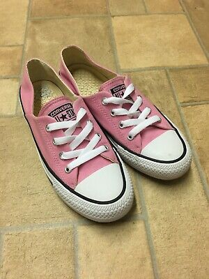 Womens Converse All Star Coral Ox Pink Trainers Shoes Size UK 4 Dainty Girls