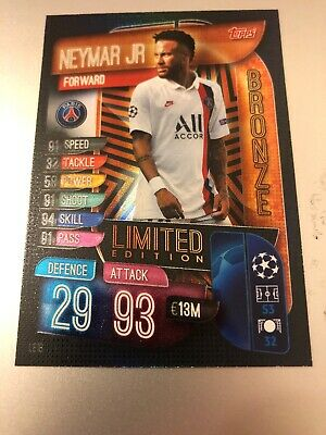 Match Attax Extra 2019/20 Neymar Jr Bronze Limited Edition Le1B Mint