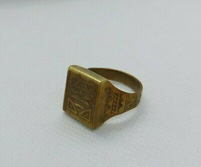 Rare Ancient Ring Viking Bronze Antique Vintage Artifact Authentic Very Stunning