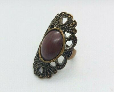 Rare Ancient Roman Bronze Ring Stone Red, Ring Antique Authentic Very Stunning