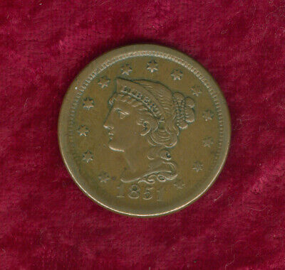 1851 Large Cent in Extra Fine