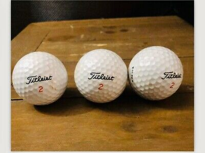 Titleist 2 Golf Balls -3- Preowned  - Very Good Condition!