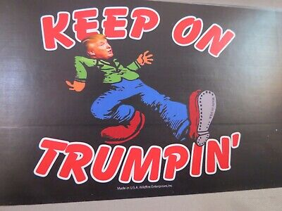 Lot Of 10 Keep On Trumpin' Donald Trump For President Bumper Sticker  2020 Decal