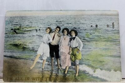 Scenic Beach All In the Girls Postcard Old Vintage Card View Standard Souvenir