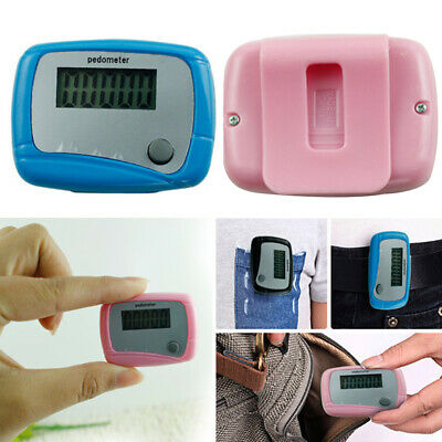 LCD Digital Walking Pedometer Step Distance Counter Fitness Belt Clip On Band Ch