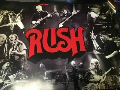 Rush Live In Concert Vintage Poster Neil Peart Geddy Lee Alex Lifeson 2112