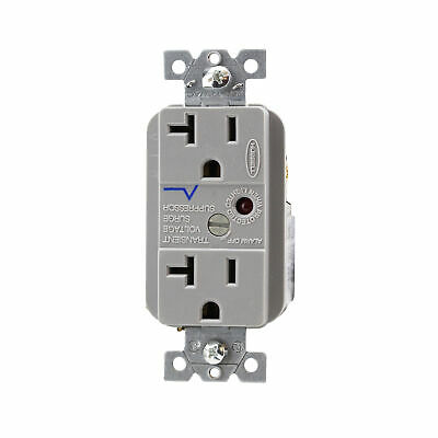 HUBBELL GROUND FAULT GRAY RECEPTACLE GF5352GYA NIB