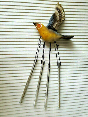 Small, Realistic Resin Yellow Bird, Wind-Chime