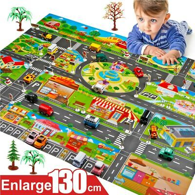 Kids House Traffic Road Signs Car City Scene Baby Play Mat Carpet AU STOCK