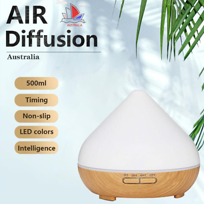 Essential Oil Aroma Diffuser LED Ultrasonic 500ml Air Aromatherapy Humidifier