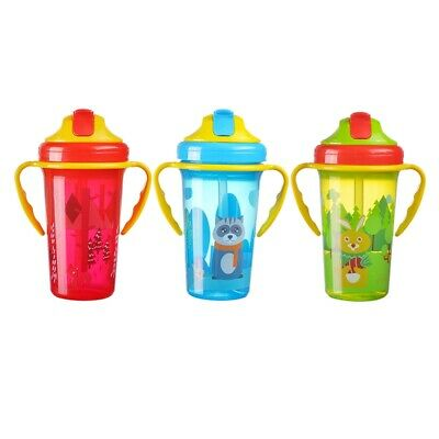 Kid Baby Cartoon Water Bottle Cup Baby Portable Feeding Bottle With Straw Handle
