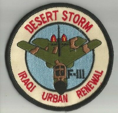ARMEE avion aviation desert storm Iraqi Urban renewal écusson / patch 10 cm