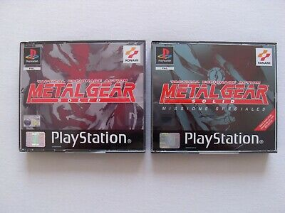 Metal Gear Solid & Metal Gear Solid Missions Spéciales PS1 complets - Comme neuf