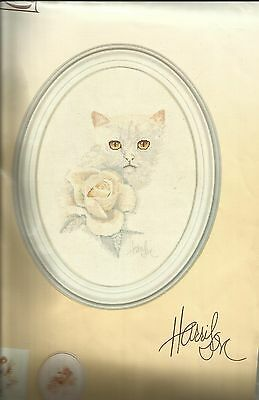 Lanarte- Vintage  X-kit Cat and Rose 33505 OOP