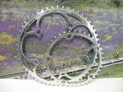 Campagnolo 10 speed chainring set 39-53 polished 5 bolt ultra drive