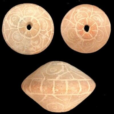 Rare Ancient Near Eastern Sumerian Clay Spindal Artefact 2000-3000B.c (1)