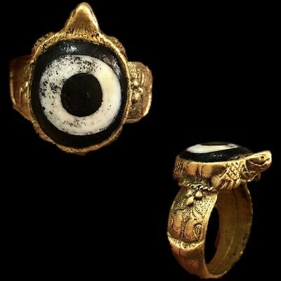 Rare Ancient Phoenician Stone Ring In Shape Of Turtle 300Bc Super Quality (5)