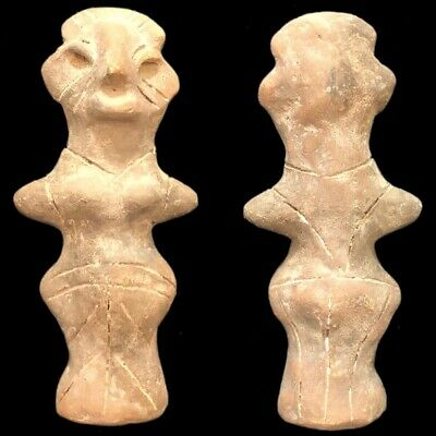 Ultra Rare Huge Stone Age Ancient Neolithic Anthromorphic Vinca Idol 4500BC (3)