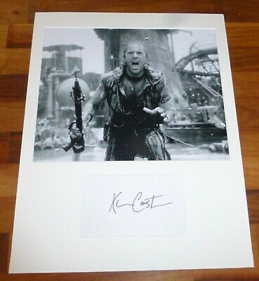 KEVIN COSTNER-Hand Signed Card is Presented With A Photo-Mounted & Matted,COA