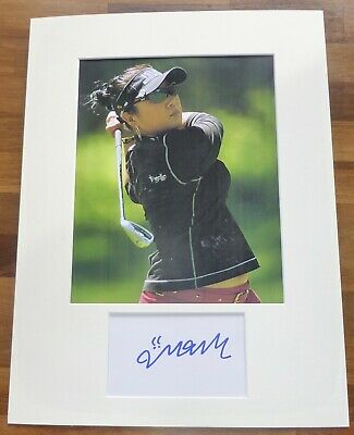 JEONG JANG-A Hand Signed Card is Presented With A Photo-Mounted & Matted,COA