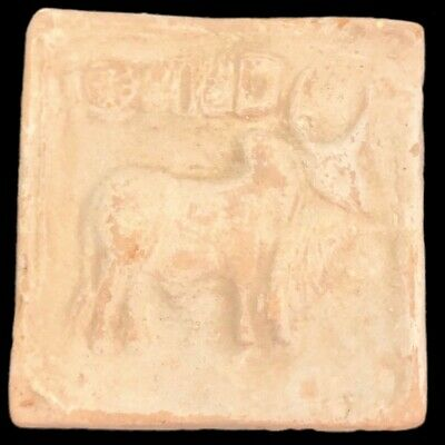 Rare Ancient Terracotta Harappa Indus Valley Bull Tablet 2500-2000 B.C. (4)
