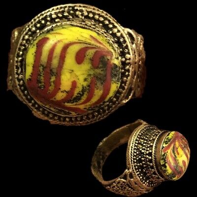 Rare Ancient Phoenician Stone Ring 300Bc Super Quality (8)