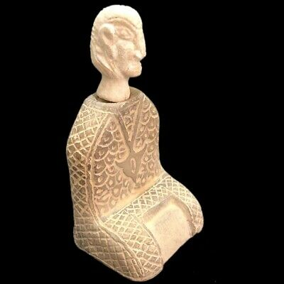 Rare Ancient Western Asiatic Bactrian Stone Pictorial Idol 300 Bc (1)