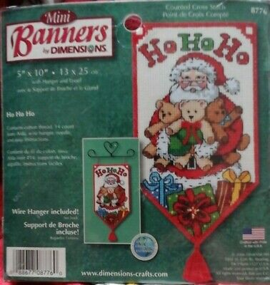 Dimensions Cross stitch kit Mini  Banner Ho Ho Ho 8776 NIP
