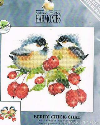 Heritage Cross stitch kit Harmonies Berry Chick chat Valerie Pfeiffer