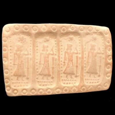 Rare Ancient Near Eastern  Tablet With Early Pictorial Scene C. 2000-3000B.c (2)
