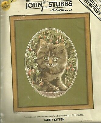 Heritage Cross stitch kit John Stubbs Collection Tabby Kitten 1690/303