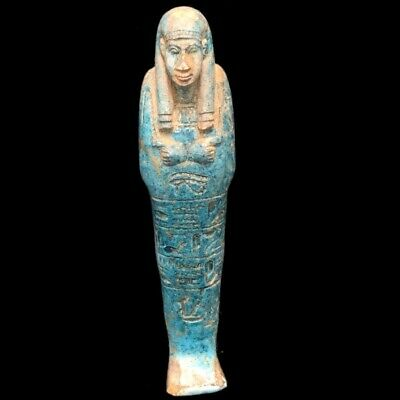 ANCIENT EGYPTIAN HIEROGLYPHIC SHABTI (1) Large Over 20.7 cm !!!!