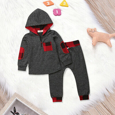 US SALE Toddler Kids Baby Girls Clothes Hoodies Tops Long Pants Outfit Tracksuit