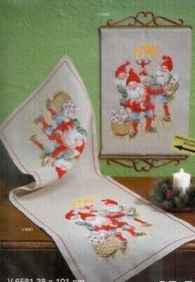 Cewec  Cross stitch kit Christmas Gnomes V6582
