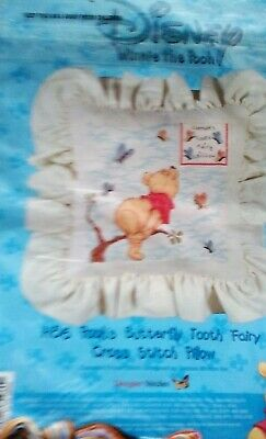 Designer Stitches Pooh's Butterfly Tooth Fairy Pillow H86 NIP