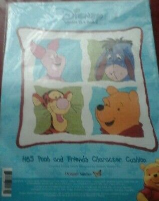 Designer Stitches Pooh and Friends Character Cushion H65 OOP