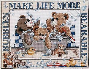 Janlynn   Cross stitch kit -Vintage Bubbles 195-0603 NIP